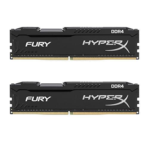 Kingston HyperX FURY Black 8GB Kit 2x4GB 2133MHz DDR4 Non-ECC CL14 DIMM Desktop Memory HX421C14FBK2 8
