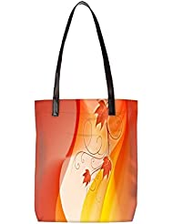 Snoogg Design Widescreen Hdtv Womens Digitally Printed Utility Tote Bag Handbag Made Of Poly Canvas With Leather...