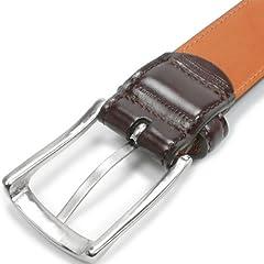 Layered Cordovan Belt KTB-039: Dark Brown