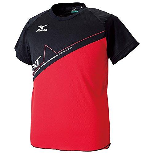 (ミズノ)MIZUNO 陸上競技 プラクティスシャツ U2MA5083 62 チャイニーズレッド×ブラック×ホワイト M