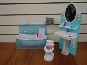 barbie bathroom games size dollhouse furniture bathing 10078