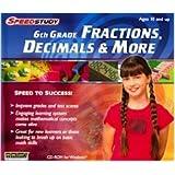 High Quality Speedstudy 6 Th Grade Fractions & More Kids Math Science Software Windows Xp Vista Cd Rom Drive
