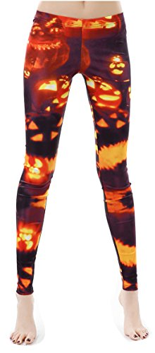 Pumpkin Lamp Cute Leggings