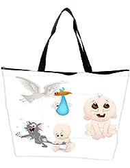 Snoogg Cute Baby Vectors Waterproof Bag Made Of High Strength Nylon