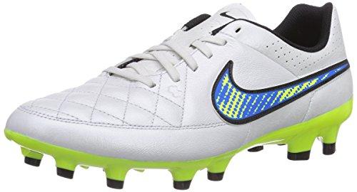 Nike Tiempo Genio Leather FG - Zapatillas de fútbol para hombre, color white/volt-soar-black, talla 42