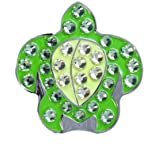 Bella Crystal Collection-USA Green Turtle Hat Clip Set
