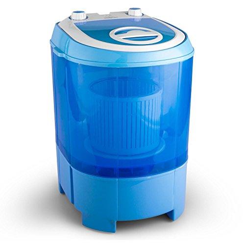 oneConcept SG003 - Machine à laver transportable avec fonction essorage pour camping, studio, chambre étudiant (tambour 2,8kg, dimensions mini, silenc...