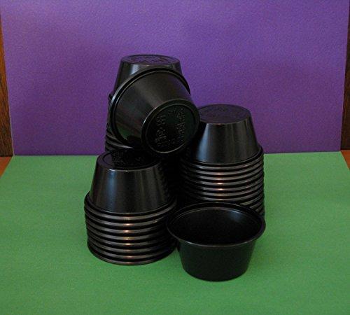 40 Black Jello Shot Glasses / Souffle Cups / Portion Cup wit