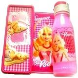 Disney Barbie Combo Gift Set Of Kids - Water Bottle & Pancil Box - For Boys & Girls