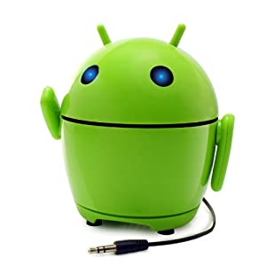 GOgroove Pal Bot - the Rechargeable & Portable Android Styled Speaker System for Smartphones , Tablets , MP3 Players , Laptops , And More Devices!
