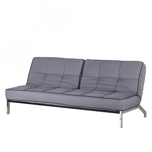 Schlafsofa Jim Grau - 3-Sitzer Schlafcouch Klappsofa Klappcouch Sofa Couch Home24 NEU