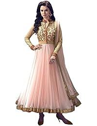 Shiroya Brothers Shiroya Brothers Women's Net Anarkali Salwar Suit Unstitched Regular Wear Dress Material(SB_DM_PINK...