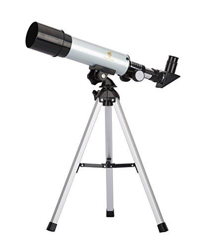 GEERTOP® 90X Portable Astronomical Refractor Telescope, 360X50mm, For Kids Sky Star Gazing & Birds Watching