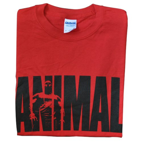 TEE ANIMAL M STACK RED XXL