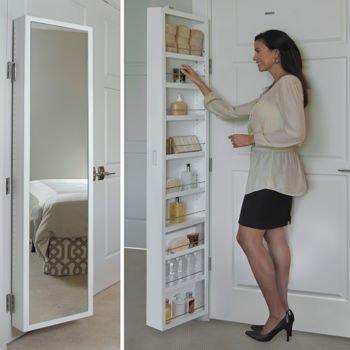Cabidor® Classic Deluxe Behind Door Storage Cabinet with Full Length Mirror