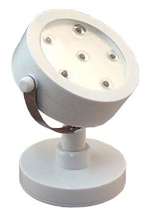 Rite Lite LPL720W 6-LED Battery-Operated Spotlight, White