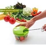 Vegetable Food Chopper Hand Speedy Veggie Meat Chopper Shredder Slicer Cutter -