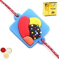 Kids Rakhi -candy Crush Rakhi With Chocolate Box