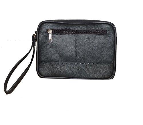 Style98 100% Leather Unisex Multi Purpose Toiletry Bag||Toiletry Kit||Toiletry Pouch||Handbag||Travel Toiletry... - B071S2YQ19