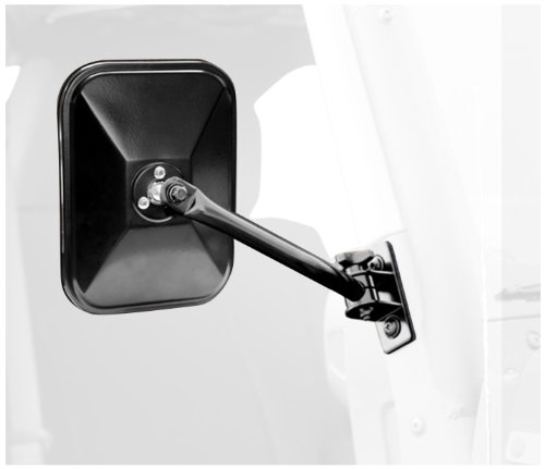 Rugged Ridge 11025.12 Black Rectangular Quick Release Mirrors – Pair