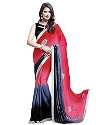 Shonaya Multi-Coloured Coloured Saree With Unstiched Blouse Piece (HISOLI-2209_Multi-Coloured)