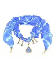 Handpicked Gift Jewel Scarfs Tie Dye Royal Blue Black Yellow Vir Fashion Accessories For Women