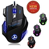 5500 DPI 7 Button 500Hz LED Optical USB Wired Gaming Mouse Mice For Gamer