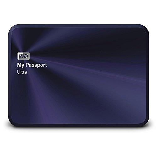 WD HDD ポータブル ハードディスク 1TB USB3.0 My Passport Ultra Metal Edition WDBTYH0010BBA-PESN ブルーブラック / 暗号化保護 / 3年保証