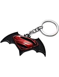 RainSound High Quality Batman Vs Superman Logo Keychain Black Red