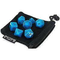 Polyhedral Dice Set | Aqua Blue Opaque | 7 Piece | PRISTINE Edition | FREE Carrying Bag | Hand Checked Quality