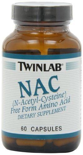 Twinlab NAC 600mg, 60 Capsules (Pack Of 2)