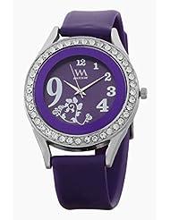 Watch Me Purple Leather Analogue Watch For Women WMAL-097-PR - B01KIEOJ72