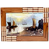 Just Frames Hand Carved Antique Wooden Wall Hanging Photo Frame | Size : 8 X 12 Inch | Product Code : JF103-4