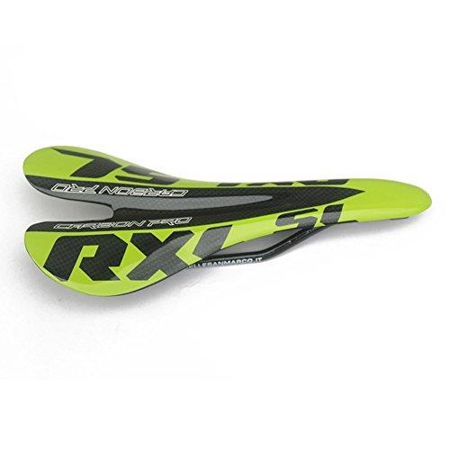 RXL SL Full Carbon Fiber Road MTB Mountain Bicycle Saddle Cycling Bike Carbon Seat Saddle 95g Green SZ19