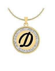 IskiUski Enthralling D Swarovski Valentine Pendant In 925 Sterling Silver For Women