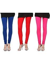 Style Acquainted People Women's Cotton Leggings (Pack Of 3) - B015J8BVW8