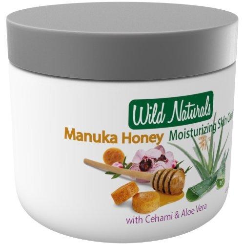 100% Natural Moisturizer Skin Cream By Wild Naturals - 8 Oz - With Manuka Honey And Aloe Vera - Very Light Non-Greasy...
