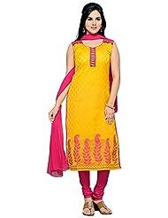 Roopali Creations Women's Chanderi Silk Salwar Suit Set - B013SVSE5A