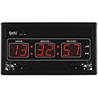 Ajanta Digital Rectangle 33 Cm X 18 Cm Wall Clock For Home And Office - 40