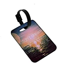 Snoogg I Worked For Success Luggage Tags Premium Quality Card Tags - Great For Travel