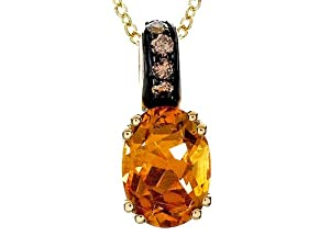 Effy Collection 14k Brown Diamond and Citrine Pendant Necklace