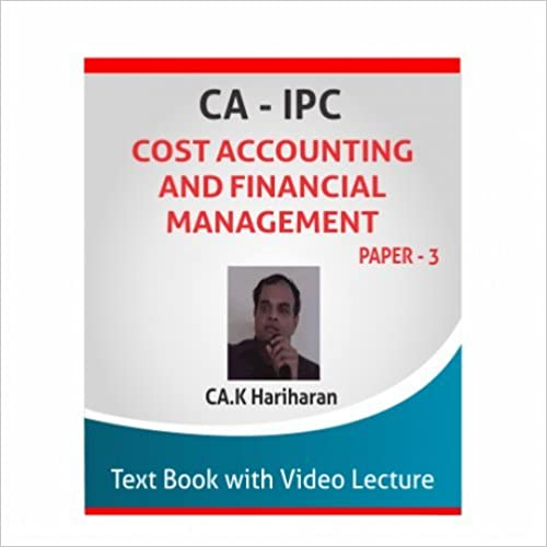 Cost Accounting and Financial Management Hardcover by CA K Hariharan
