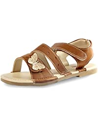 Beanz Brit Baby Beige Man Made Leather Sandal For Girls Size 26 EU