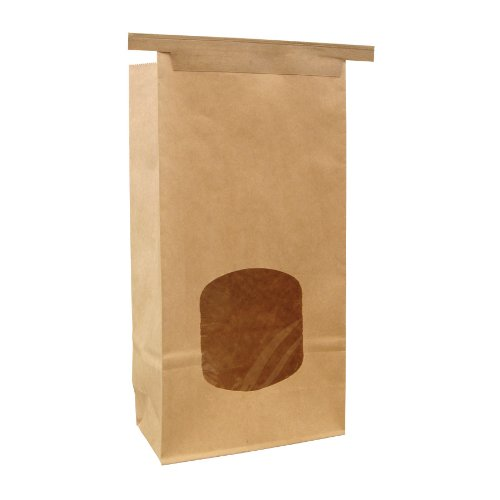 Paper/Poly Stand Up Window Bakery Bag with Tin Ties 1-lb Capacity