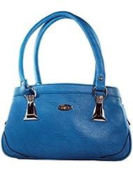 KARP Women's Vintage Casual Stylish Sky Blue PU Leather Multi Compartment Large Capacity Shoulder Handbag (HandBag...