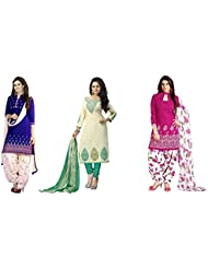 Shiroya Brothers Women's Cotton Printed Unstitched Regular Wear Dress Material (Combo Pack Of 3)(SB_DC_1169)(SB...