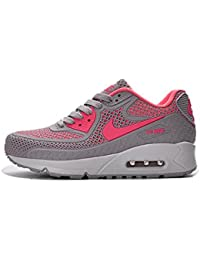 NEW Nike Air Max 90 Women S Running Shoe Gray Pink White - Plastic Shell