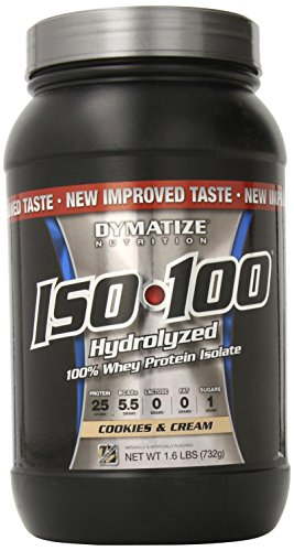 Dymatize Nutrition ISO 100 Whey Protein Isolate Powder - 1.6 Lbs (Cookies & Cream)