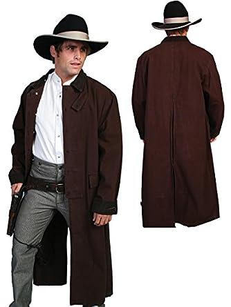 Victorian Mens Suits & Coats Long Canvas Duster  AT vintagedancer.com