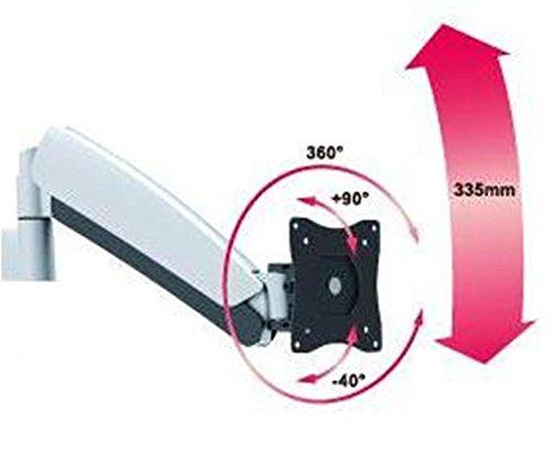 グリーンハウス 液晶ディスプレイアーム クランプ式 4軸 GH-AMCA02